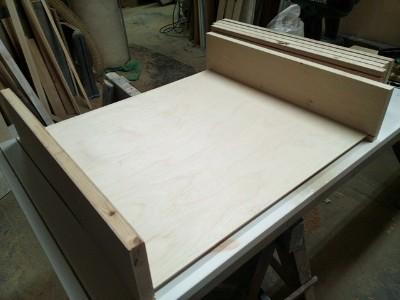 szuflada z płyty stolarskiej na wymiar