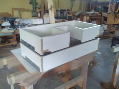 szuflada do szafki łazienkowej stolarz wrocław na wymiar