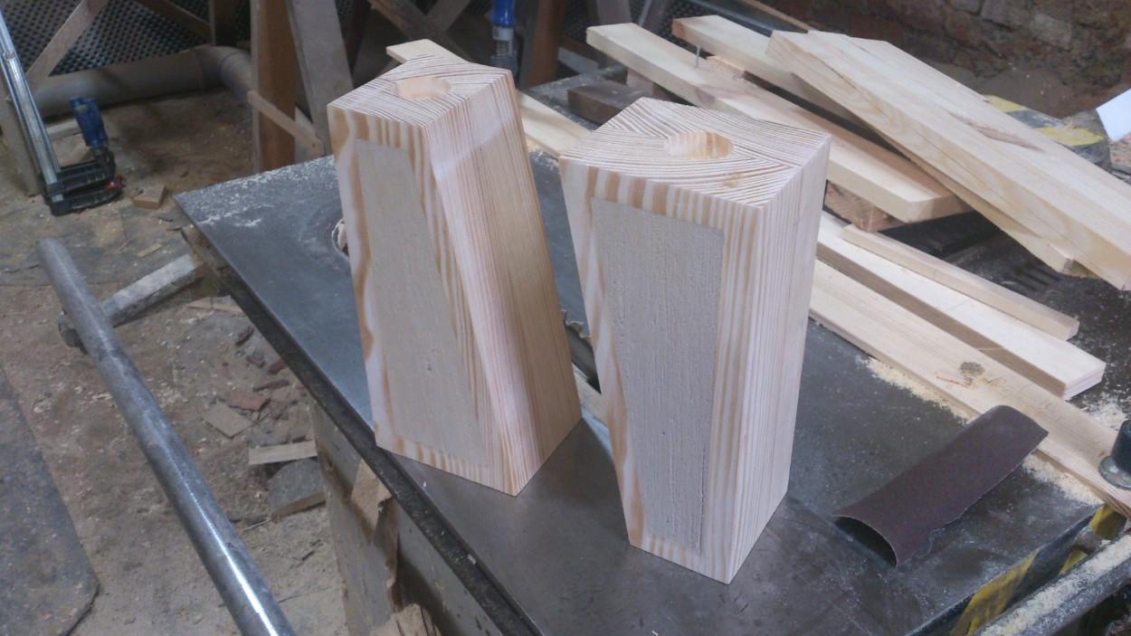 świecznik drewno beton na zamówienie wrocław krzyki
