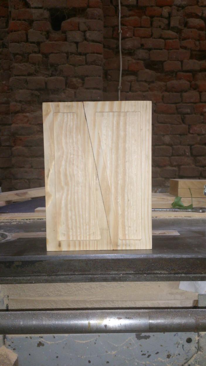 świecznik z drewna sosnowego z wypełnieniem gipsowym na zamówienie wrocław