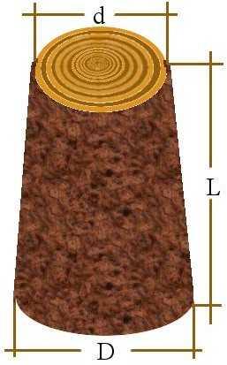 zbieżystość drewna okrągłego