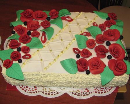Tort okolicznościowy-róże