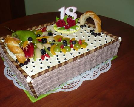 Tort koszyk piknikowy