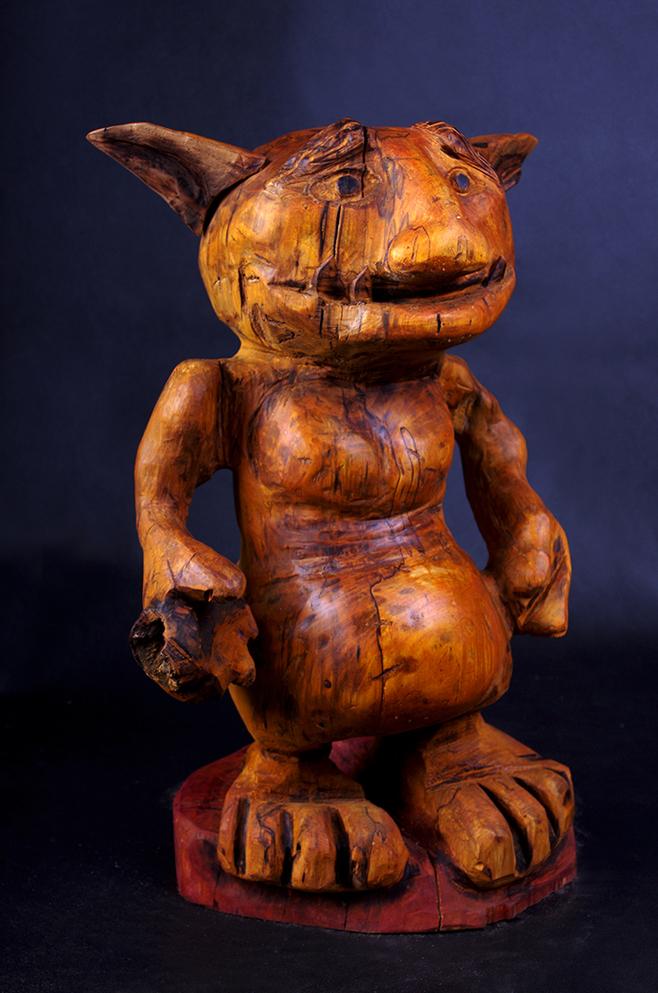 drewniana figura