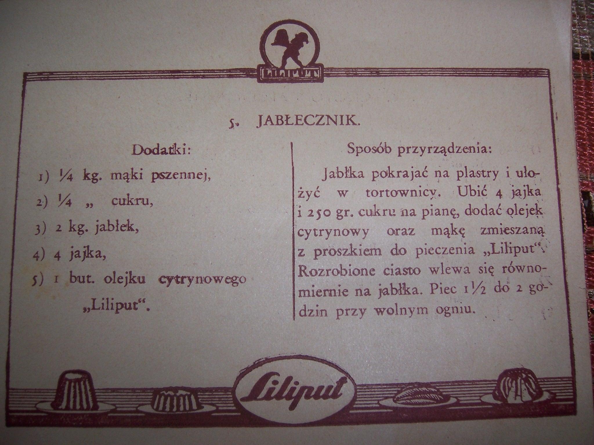 Jablecznik Z Liliputa Moje Gotowanie