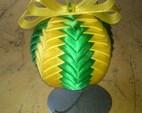 Bombka 10 cm zielono-żółta. Cena 20zł