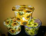 Koszyczki w słoneczniki