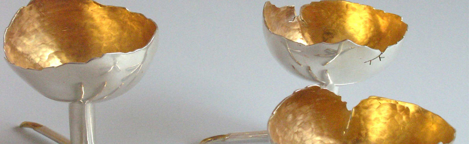 jajeczniki - srebro złocone